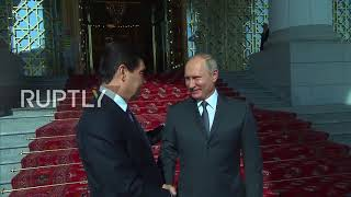 Turkmenistan: President Berdimuhamedow welcomes Putin to Ashgabat ahead of bilateral talks