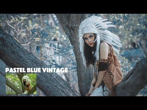 Pastel Blue Vintage Tone | Photoshop Tutorial