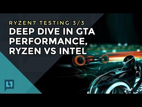 Ryzen Part 3: Gameplay/Frametimes of GTA V on Ryzen & Intel (3/3)