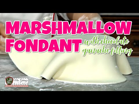 EASY MARSHMALLOW FONDANT with CHOCOLATE GANACHE FILLING (Mrs.Galang's Kitchen S9 Ep4)
