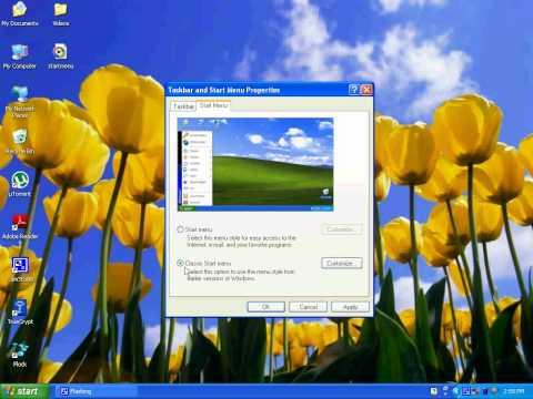 How to Change Windows XP Start Menu Style