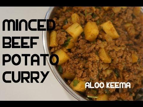 Aloo Keema Recipe Minced Beef & Potato Curry Indian Masala