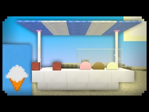 ✔ Minecraft: How to make an Ice Cream Stand