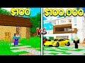 $100 WORLD vs $100,000 WORLD IN MINECRAFT! (FAN VIDEO)