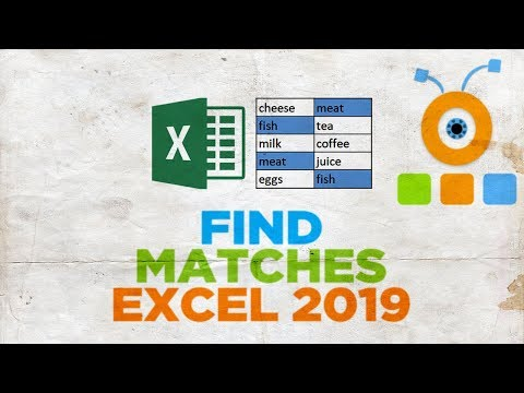 How to Find Matches in Excel 2019
