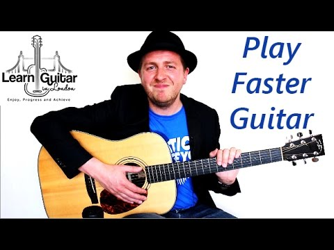 How To Play Faster Guitar - Works With Any Song/Technique