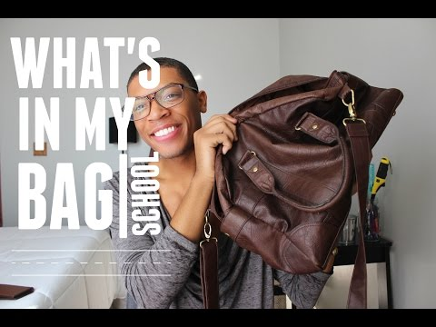 What's In My Bag: Back To School | Absolutely Adonis