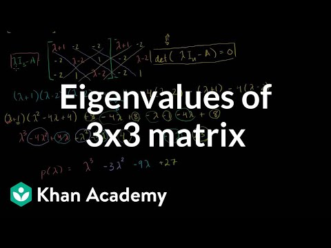 Eigenvalues of a 3x3 matrix | Alternate coordinate systems (bases) | Linear Algebra | Khan Academy