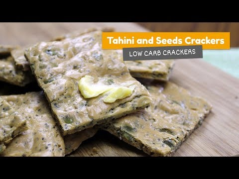 Tahini and seeds CRACKERS • Low Carb Crackers #3