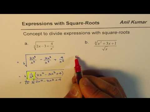 How to divide expressions with sixth root by square root