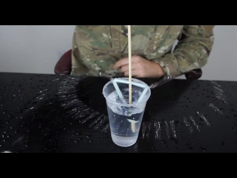 Simple Water Pump from a Straw - Science Experiment