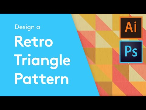 Flat Design Tutorials: How To Make A Retro Triangle Pattern With Adobe Illustrator and Photoshop
