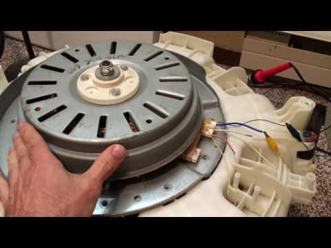 A simple Transistor circuit running a brushless washing maching motor Part 1
