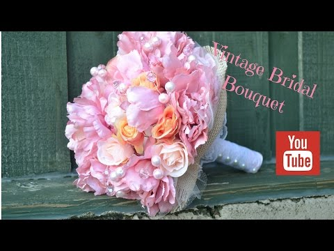 DIY Bridal Bouquet: How to create your own vintage wedding flowers