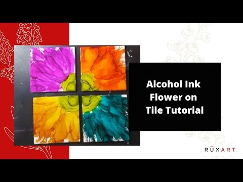 Alcohol Ink Flower on Tile Tutorial | Adirondack Inks