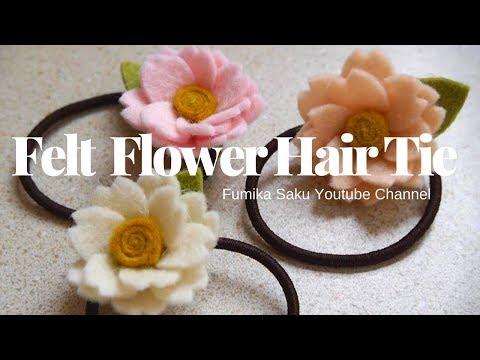 How to Make Felt Flower Hair Tie