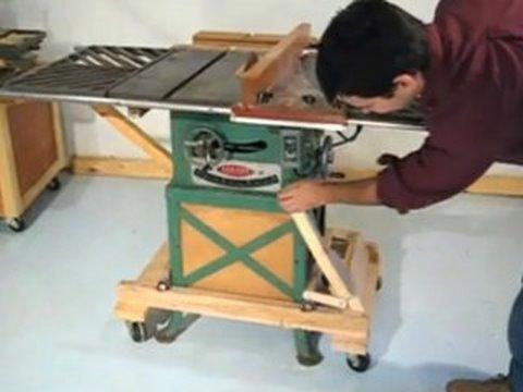 Table saw mobile base