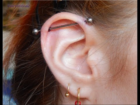 Piercings: Industrial piercing experience and aftercare
