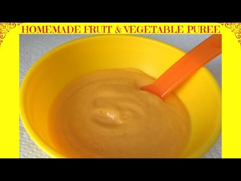 How to Make Sweet Potato, Carrot, Apple & Pear Puree | Baby Food | Starting From 6 Months