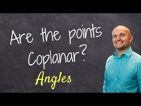 Determine if points and lines are coplanar or noncoplanar