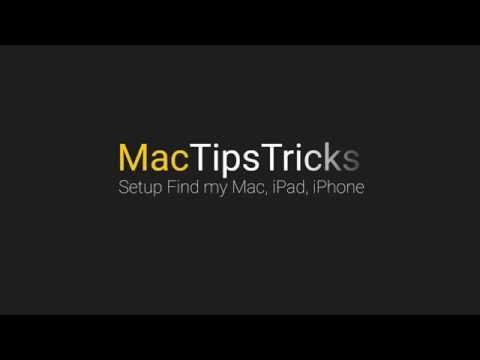 Set up Find my Mac, iPad, iPhone