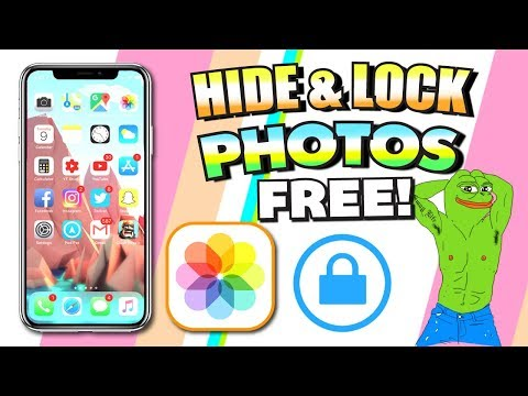 How To LOCK & HIDE Photos/Videos on iPhone for FREE - iOS 11 / iOS 10 (NO JAILBREAK)