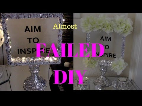 DOLLAR TREE DIY || I ALMOST FAILED || HOW TO HOME DECOR DIY