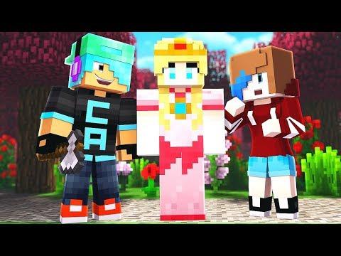 Friends Build a Princess in Build Battle! Minecraft Games
