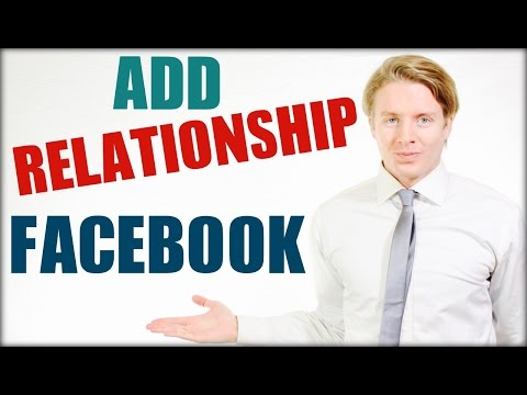 How to Add Relationship on Facebook 2016