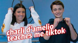 Charli D'Amelio Teaches Me TikTok Dances!   Noah Schnapp
