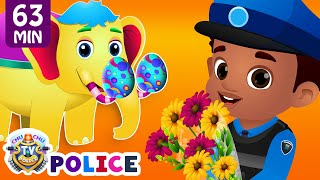 ChuChu TV Police Chase & Save The Magical Elephant from Bad Guys | ChuChu TV Surprise Eggs Toys
