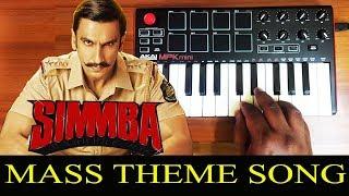 Simmba - Mass Cop Theme   Bgm By Raj Bharath   Ranveer Singh   Thaman S S
