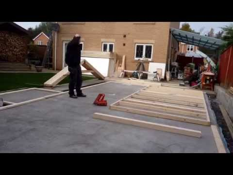 Building my garden workshop part 1
