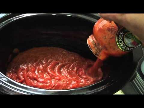 Slow cook Spaghetti and Mozzarella meatballs