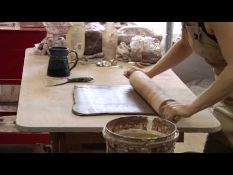 Clay Pottery Slab Building : Rolling Pin Tips for Clay Pottery