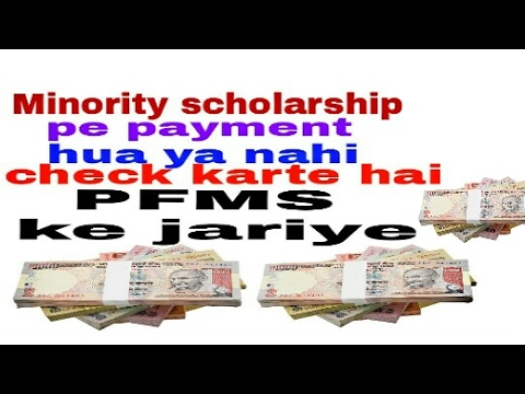 How to check  Your Payments minority scholarship