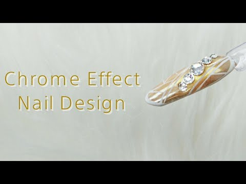 Mirror Effect Chrome Design Gel Nails ❤️ How to by Goda Flawless Nails