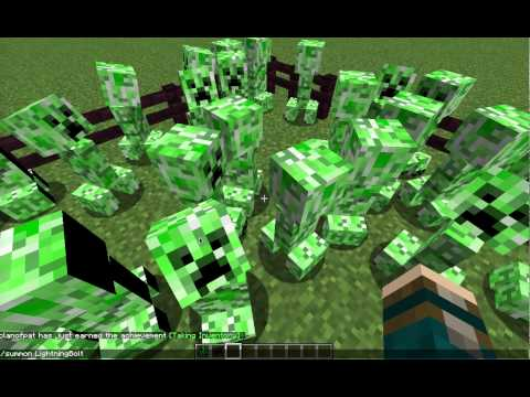 How to make a supercharged creeper on Minecraft no mods