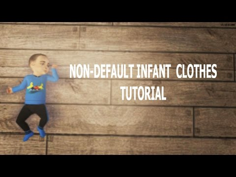 SIMS 2 CUSTOM BABY CLOTHES TUTORIAL