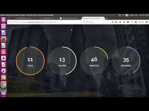 Awesome Circular jQuery Final Countdown Timer Plugin