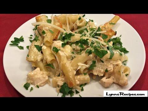 Chicken Alfredo Baked  Ziti - Lynn's Recipes