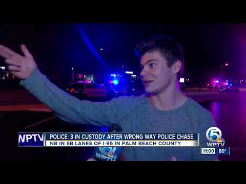 3 arrested after stolen SUV leads police on wrong-way chase on I-95