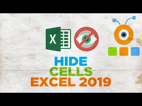 How to Hide Cells in Excel 2019   How to Hide Row or Column in Excel 2019