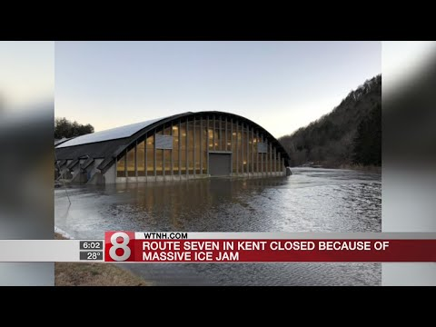 """Massive ice jam"" causes flooding, evacuations in Kent"