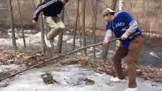 KID GETS MAD!!! ALMOST FALLS INTO RAPIDS!!!
