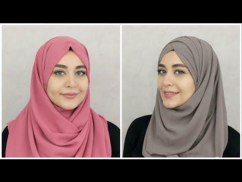 Xxx Mp4 2 New Chiffon Hijab Tutorials Muslim Queens By Mona 3gp Sex