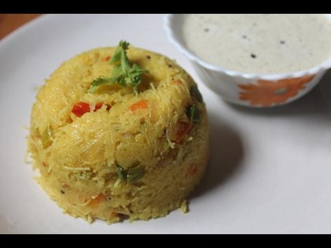 Vermicelli Rava Bhath Recipe - Rava Semiya Khichdi Recipe (Upma Recipe)
