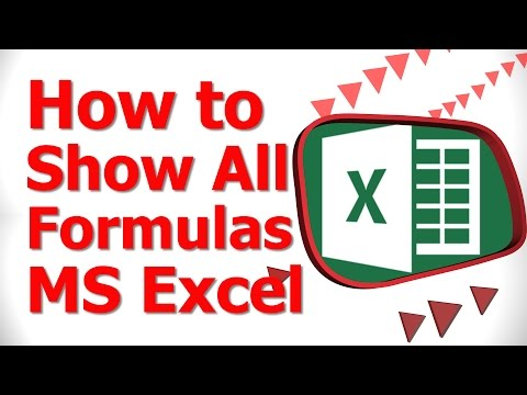 How to Show All Formulas MS Excel