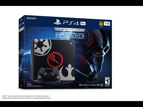 PS4 Pro Star Wars Battlefront II Limited Edition Unboxing!!