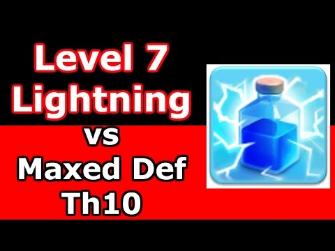 Clash Of Clans - Level 7 Lightning Spell Strategy vs Th10 - Walking Queen LavaLoon